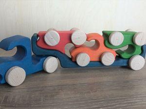 Делаем Автовоз с тремя машинками своими руками. Ярмарка Мастеров - ручная работа, handmade.