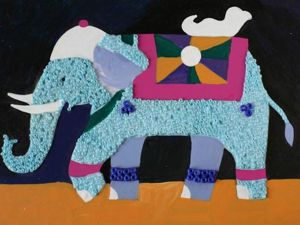 How to Make a Beaded Mosaic with an Indian Elephant with Kids. Livemaster - handmade