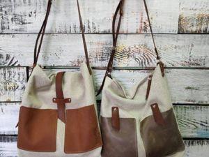 Новые модели льняных сумок в наличии. Ярмарка Мастеров - ручная работа, handmade.