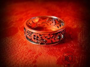 Кольцо  «Движение времён»  без камней. Ярмарка Мастеров - ручная работа, handmade.