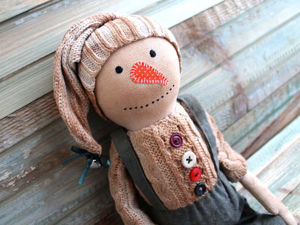 Шьём чердачного Снеговика. Ярмарка Мастеров - ручная работа, handmade.