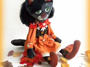 Шьем текстильную куколку «Кошка-осень». Ярмарка Мастеров - ручная работа, handmade.