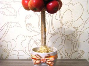 Топиарий «Осенняя яблоня». Ярмарка Мастеров - ручная работа, handmade.