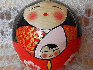 Японские сёстры русской матрешки – талисманы удачи Кокэси. Ярмарка Мастеров - ручная работа, handmade.