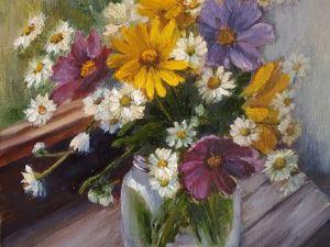 Рисуем букет цветов. Картина маслом. Ярмарка Мастеров - ручная работа, handmade.