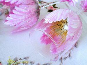 Цветок в бокале: простой и эффектный способ оформления бокалов для начинающих. Ярмарка Мастеров - ручная работа, handmade.