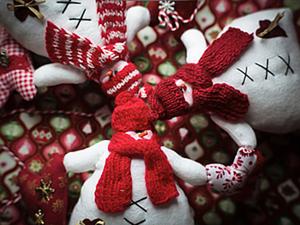 """Гирлянда """"Друзья-снеговики"""". Ярмарка Мастеров - ручная работа, handmade."""