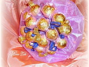 Букет из конфет в органзе. Ярмарка Мастеров - ручная работа, handmade.