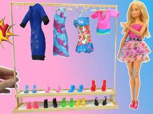 Как сделать кукольную стойку для одежды и обуви DIY. Ярмарка Мастеров - ручная работа, handmade.