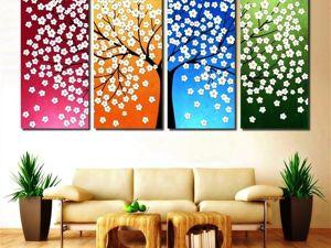 Картина Цветочное Дерево с 20% скидкой. Ярмарка Мастеров - ручная работа, handmade.