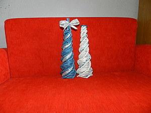 Мк по плетению ёлки косым плетением. Ярмарка Мастеров - ручная работа, handmade.