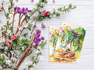 Весна! Новый набор открыток и акварельная история. Ярмарка Мастеров - ручная работа, handmade.