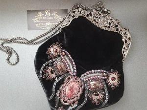 Обзор театральной бархатной сумочки с вышивкой. Ярмарка Мастеров - ручная работа, handmade.
