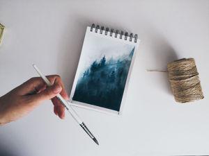 Скетчбук. Туманный лес. Ярмарка Мастеров - ручная работа, handmade.