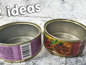 2 идеи красивой утилизации консервных баночек: видео мастер-класс. Ярмарка Мастеров - ручная работа, handmade.