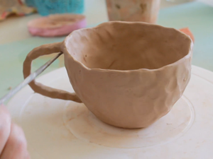 Sculpting Cup from Clay in Extrusion Technique. Livemaster - handmade
