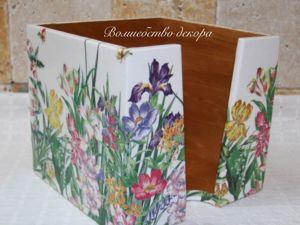 Салфетница  «Полевые цветы»  для Светланы. Ярмарка Мастеров - ручная работа, handmade.