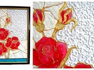 Мастерим витраж «Розы». Ярмарка Мастеров - ручная работа, handmade.
