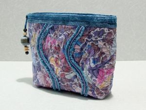 Косметичка текстильная. Ярмарка Мастеров - ручная работа, handmade.