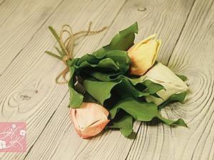 Видео мастер-класс: как сделать тюльпаны из фоамирана. Ярмарка Мастеров - ручная работа, handmade.