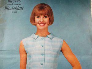 Журнал мод  из Швейцарии — Meyers Modeblatt  7/1965. Ярмарка Мастеров - ручная работа, handmade.