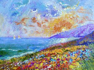 Весенние 20% и 30% скидки на пейзажи и картины с цветами!. Ярмарка Мастеров - ручная работа, handmade.