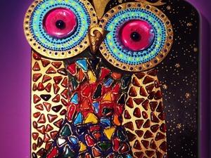 Создаем декоративное панно «Сова». Ярмарка Мастеров - ручная работа, handmade.