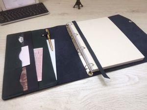 Делаем кожаный блокнот-органайзер формата А4. Ярмарка Мастеров - ручная работа, handmade.