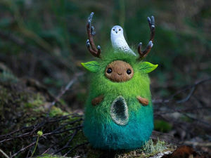 Keepers Of Nature: Artist From Altai Creates Amazing Woolen Forest Spirits. Livemaster - handmade