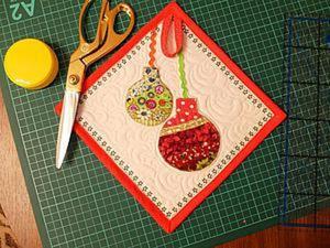 Идея использования маленьких обрезков: шьем новогоднюю прихватку. Ярмарка Мастеров - ручная работа, handmade.