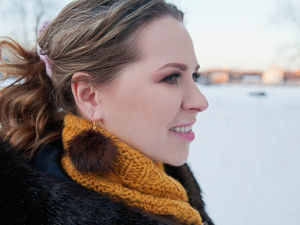 DIY Fur Earrings. Livemaster - handmade