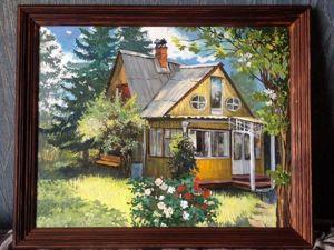 Пишем картину маслом «Портрет домика». Ярмарка Мастеров - ручная работа, handmade.