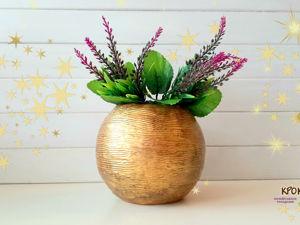 Создаем вазу в античном стиле «Золото ацтеков». Ярмарка Мастеров - ручная работа, handmade.