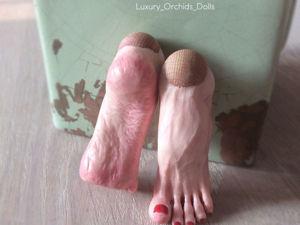 Лепим ступни для кукол из полимерной глины. Ярмарка Мастеров - ручная работа, handmade.