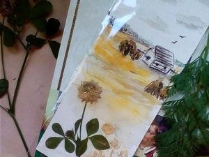 Создадим акварельную закладку с гербарием. Ярмарка Мастеров - ручная работа, handmade.