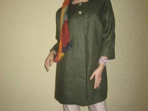 Льняная одежда для осени. Ярмарка Мастеров - ручная работа, handmade.