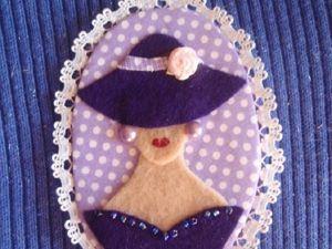 Создаем яркую весеннюю брошь  «Дама в шляпке». Ярмарка Мастеров - ручная работа, handmade.