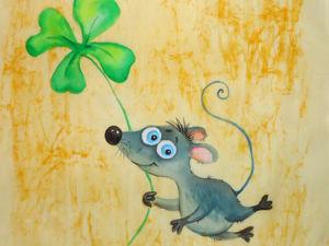 Счастливый мышонок. Ярмарка Мастеров - ручная работа, handmade.