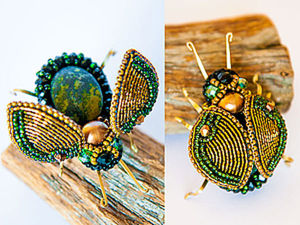 Enchanting Bug with Moving Wings: Making an Original Brooch on Your Own. Livemaster - handmade