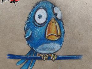 Как нарисовать птичку. Ярмарка Мастеров - ручная работа, handmade.