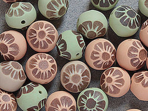 An Idea How to Create Carved Flower Beads of Polymer Clay. Livemaster - handmade