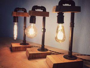 Мастерим стильный светильник в стиле лофт своими руками. Ярмарка Мастеров - ручная работа, handmade.