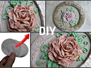 Делаем розы из ватных дисков и гипса. Ярмарка Мастеров - ручная работа, handmade.