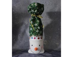 Шьем новогоднюю упаковку для бутылки «Снеговик». Ярмарка Мастеров - ручная работа, handmade.