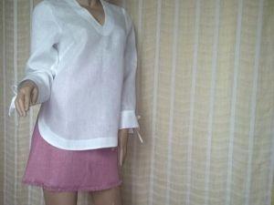 Офисная блузка из льна. Ярмарка Мастеров - ручная работа, handmade.
