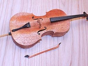 Мастерим модель виолончели для авторской куклы. Ярмарка Мастеров - ручная работа, handmade.