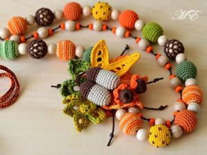 Вяжем крючком яркое колье «Осенний букет». Ярмарка Мастеров - ручная работа, handmade.
