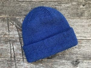 Теплая двойная шапка с отворотом. Ярмарка Мастеров - ручная работа, handmade.