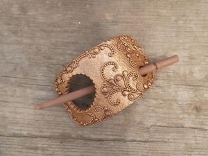 Делаем эффектную заколку из полимерной глины. Ярмарка Мастеров - ручная работа, handmade.