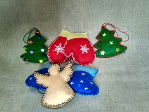 Шьем новогоднее украшение «Елочка». Ярмарка Мастеров - ручная работа, handmade.